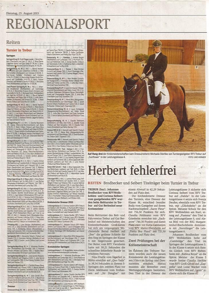 Zeitungsbericht 25.08.2015